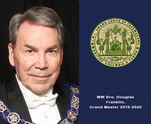 Grand Master MW Bro. Douglas Frankllin, 2018-2019 Official Visit Camosun